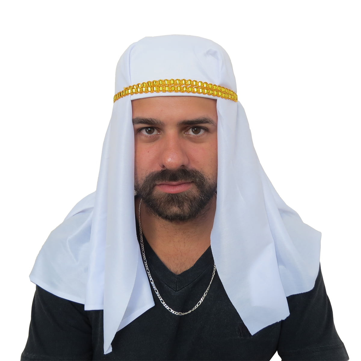 Turbante Árabe Branco para Fantasia