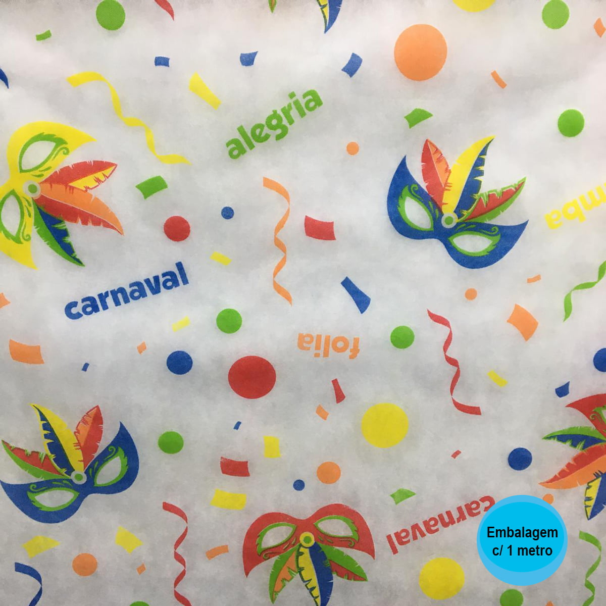 TNT Estampado Carnaval Alegria Folia - 1 metro