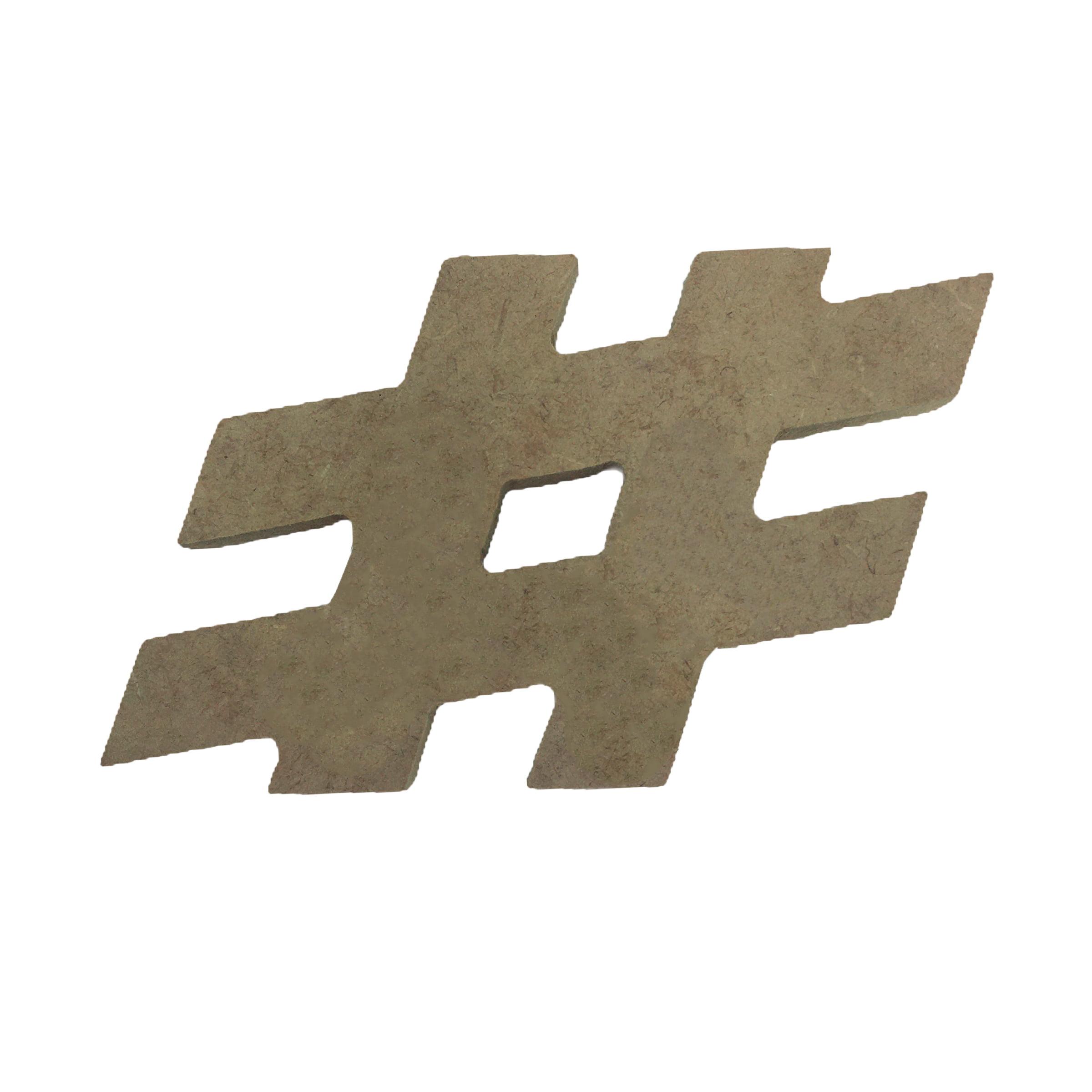 Hashtag # em MDF Crú