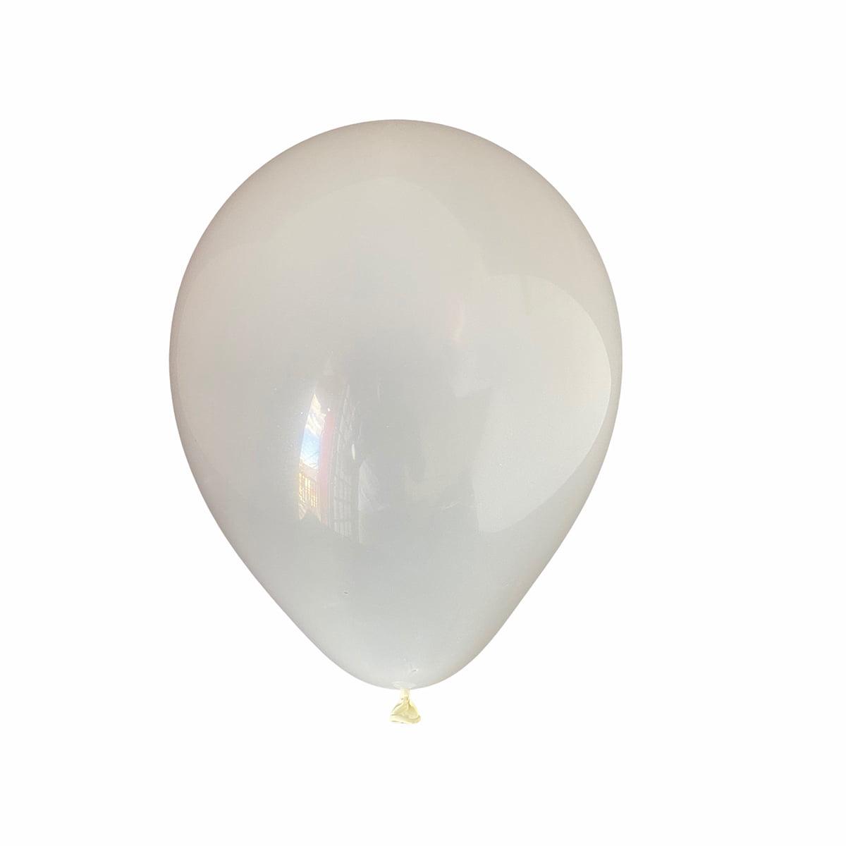 Balão Festball Liso Branco 9'' Polegadas - 50 unidades