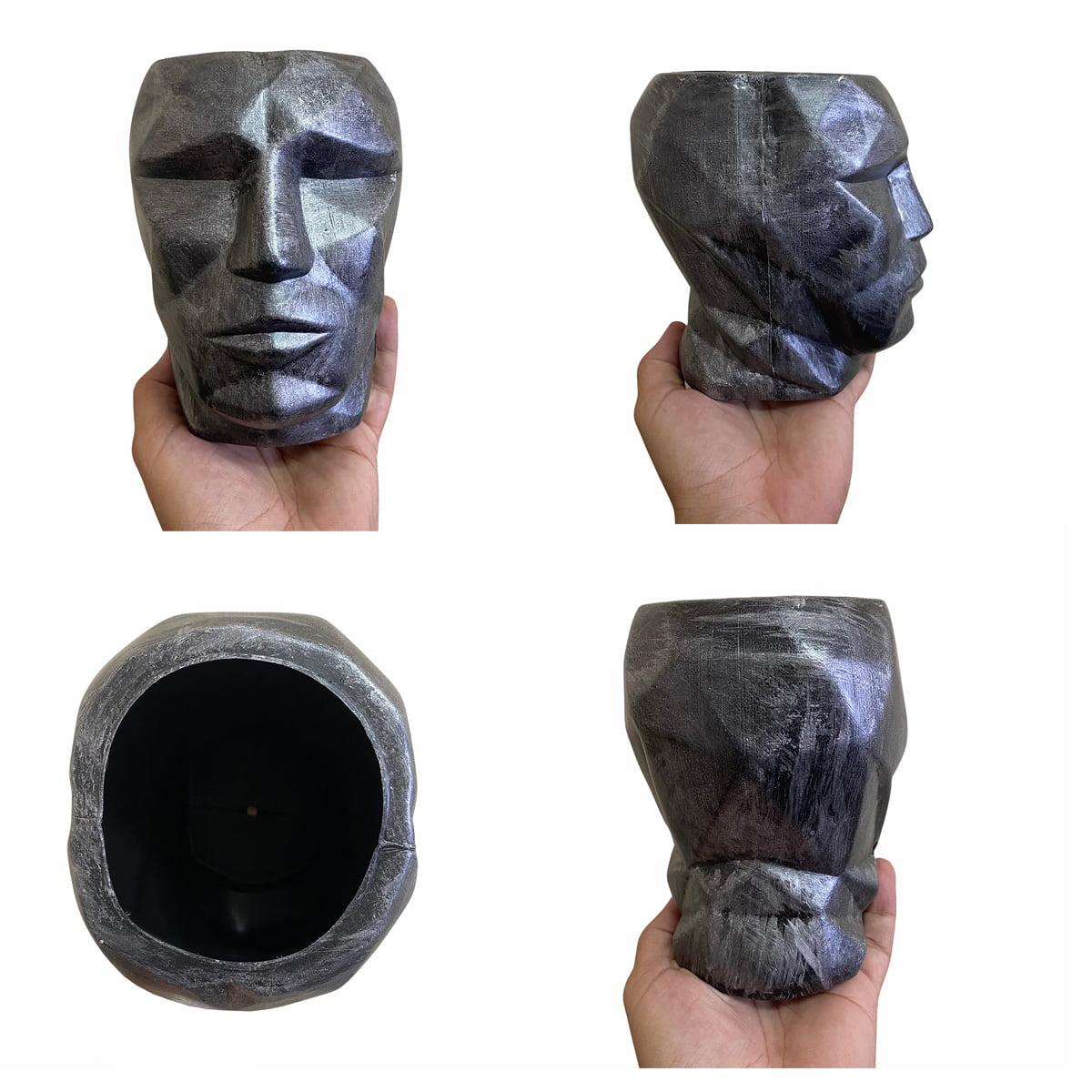 Cachepot 3D Plástico Metálico Prata