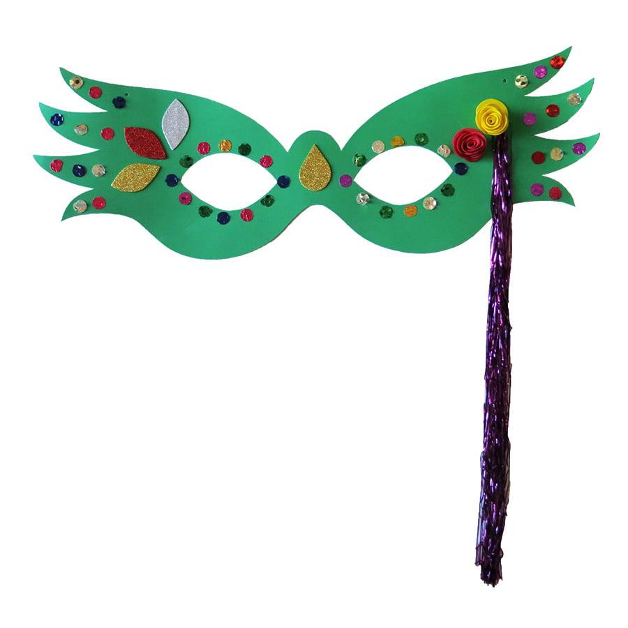 Máscara Carnaval Grande Luxo Verde