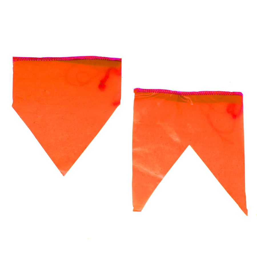 Bandeirinha de Festa Junina Plástico com 10 metros - Laranja