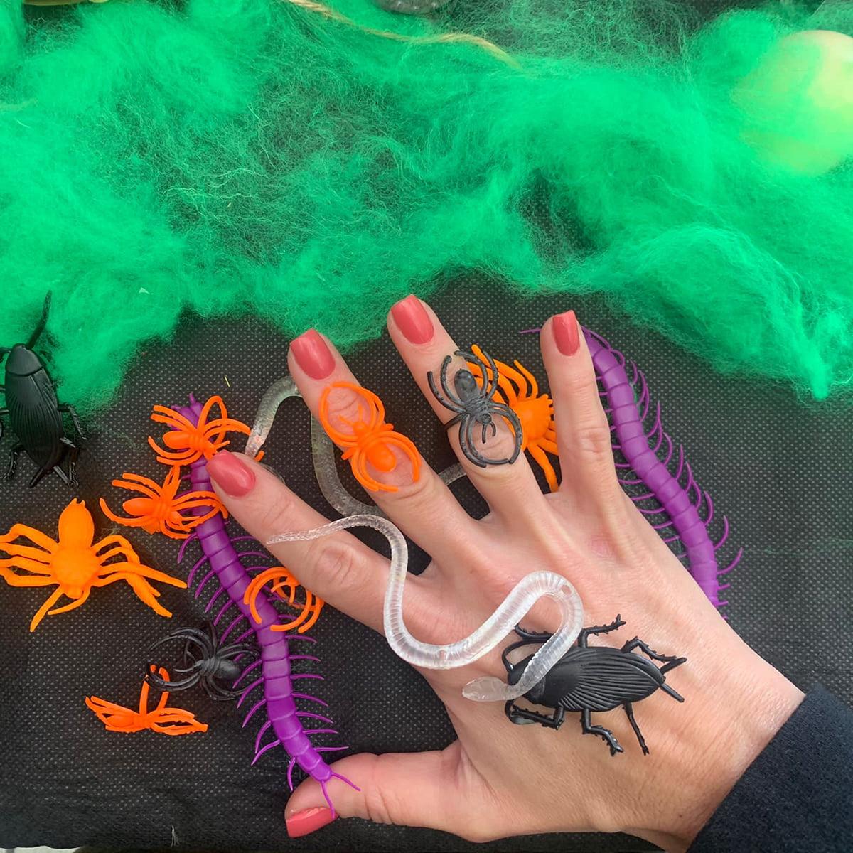 Mini Insetos Halloween - 18 unidades