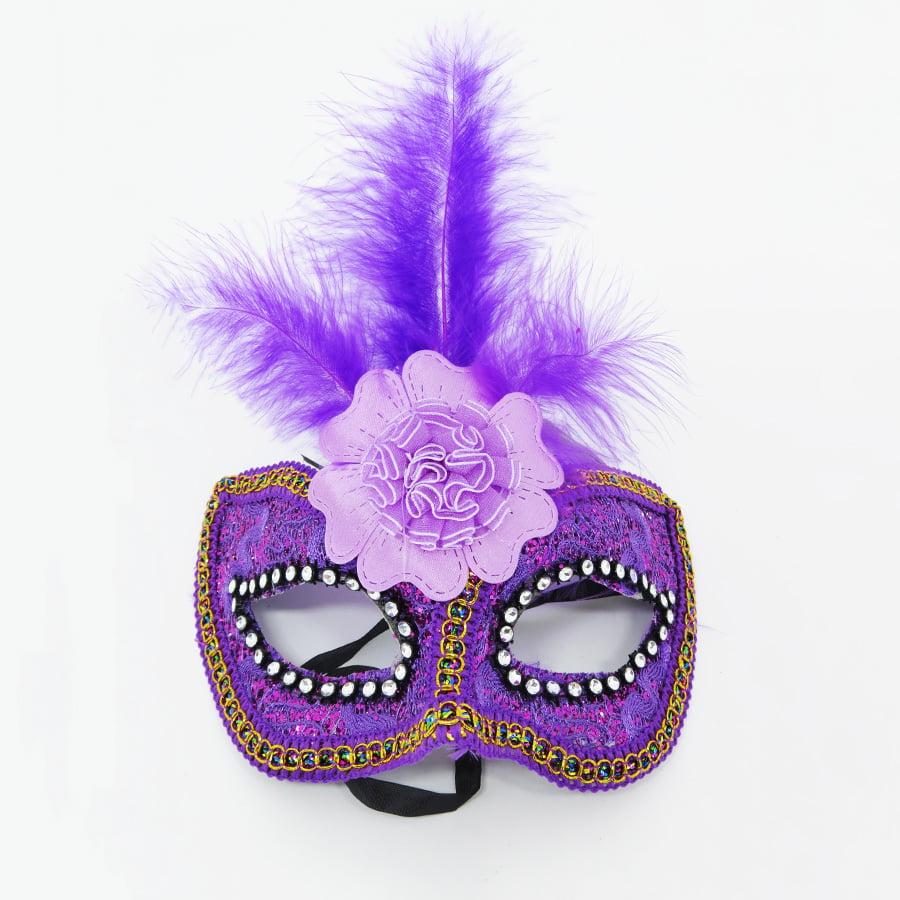 Máscara Flor Central Lilás