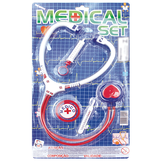 Kit Médico Fantasia Infantil 4 Itens