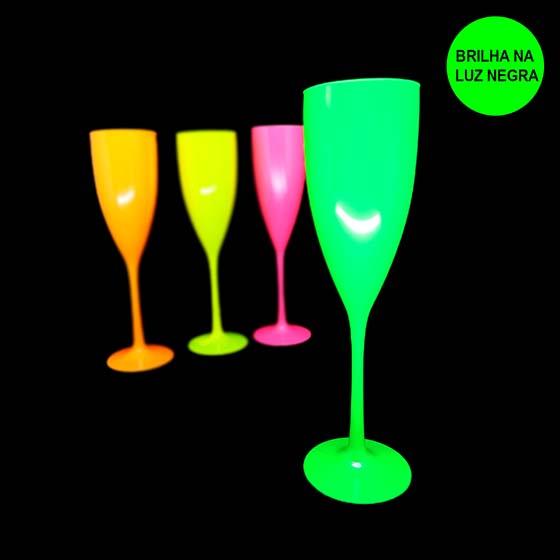 Taça Champagne 180 ml Verde Neon
