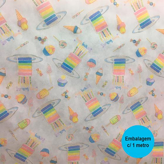 TNT Estampado Candy Colors - 1 metro