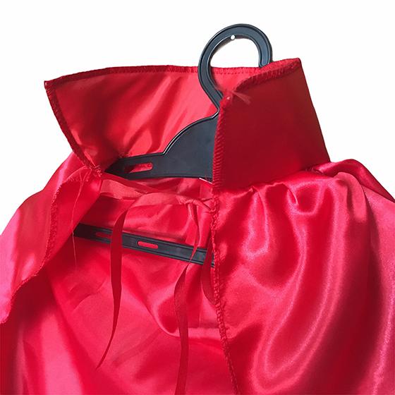 Capa para Fantasia Infantil Vermelha com Gola