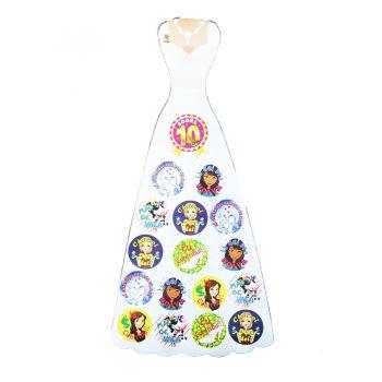 Adesivo Vestido da Noiva - 2 cartelas