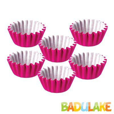 Forminha Lisa de Papel Número 5 Pink - 100 unidades