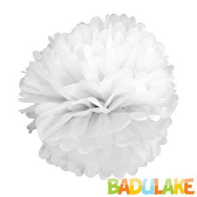 Balão Pompom de Seda Grande Branco