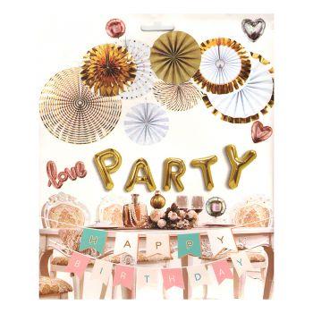 Kit Decoração Reveillon Love Party - 8 peças