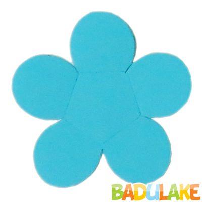 Forminha Flor para Doce Modelo 2 Azul Claro - 50 unidades