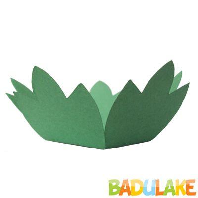 Forminha Flor para Doce Modelo 3 Verde Bandeira - 50 unidades