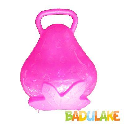 Maleta Morango de Plástico Rosa com Glitter