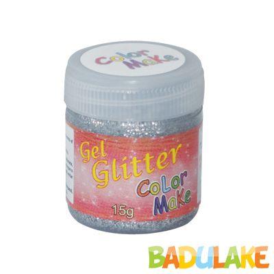 Gel Glitter 15 gramas Colormake Prata