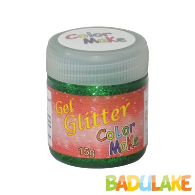 Gel Glitter 15 gramas Colormake Verde