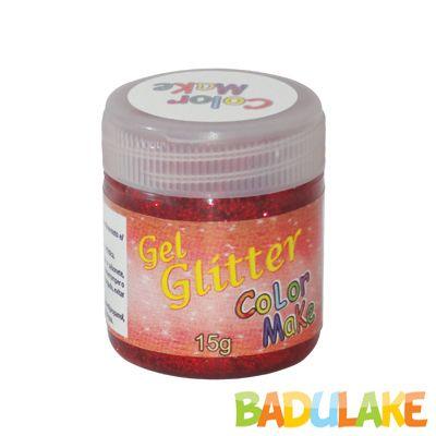 Gel Glitter 15 gramas Colormake Vermelho
