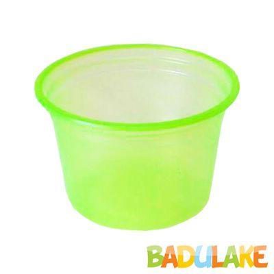 Pote Descartável 200 ml Verde Neon - 50 unidades