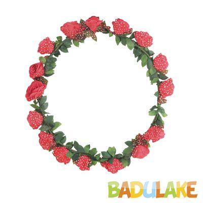Coroa Flores Luxo Vermelha
