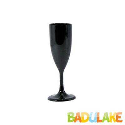 Taça Champagne 140 ml Preta - 5 unidades