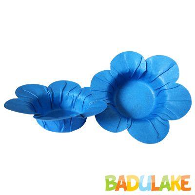 Mini Forminha Flor Scaranelo Azul - 50 unidades