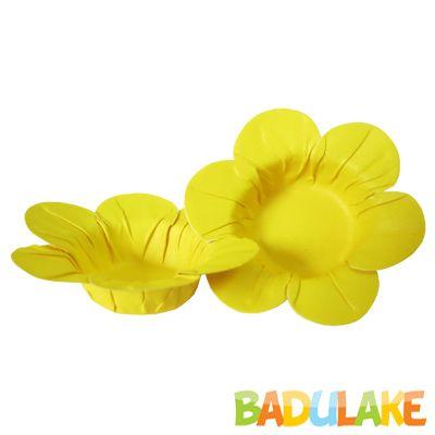 Mini Forminha Flor Scaranelo Amarela - 50 unidades