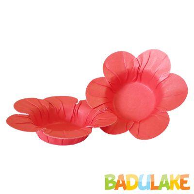 Mini Forminha Flor Scaranelo Vermelha - 50 unidades