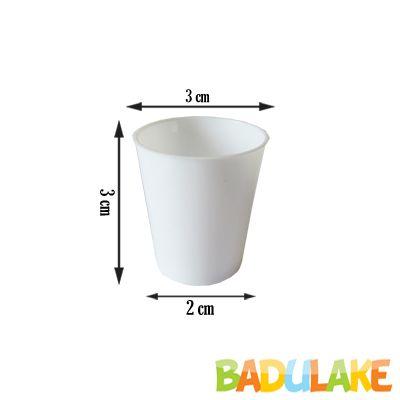 Mini Copinho para Brigadeiro Branco 10 ml - 50 unidades