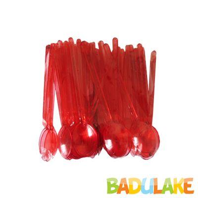 Mini Colher para Brigadeiro Vermelha - 50 unidades