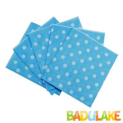 Guardanapo de Papel Poá Azul Claro com Branco 19,5 x 21,5 cm - 50 unidades