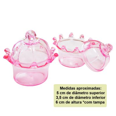 Mini Coroa para Lembrancinha Rosa - 10 unidades
