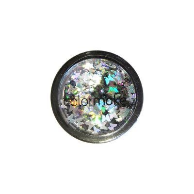 Glitter Borboleta 2 gramas Prata