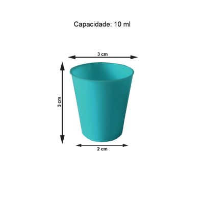 Mini Copinho para Brigadeiro Azul Tiffany 10 ml - 50 unidades