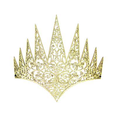 Coroa Pontas Dourada EVA