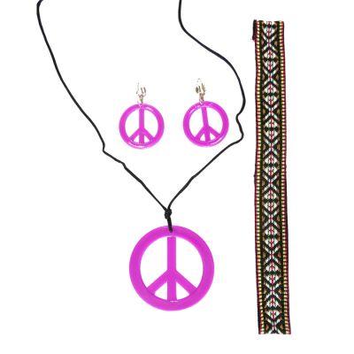 Kit Acessórios Hippie Pink - 3 unidades