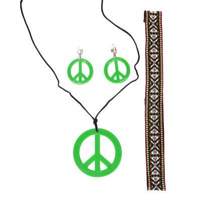 Kit Acessórios Hippie Verde - 3 unidades