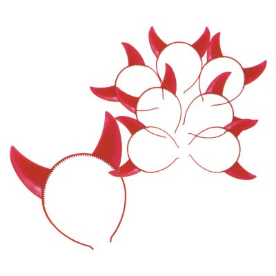 Tiara Chifre Vermelha - 6 unidades