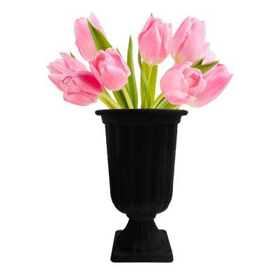 Vaso Plástico Decorativo Preto
