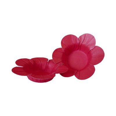 Mini Forminha Flor Scaranelo Pink - 50 unidades