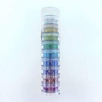 Kit Glitter em pó Colormake 10 cores