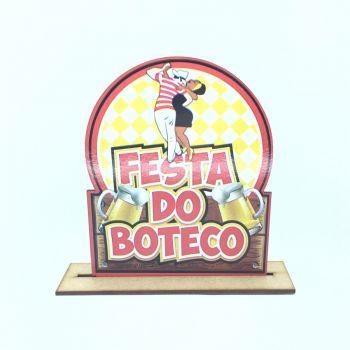 Enfeite de Mesa Mdf Festa do Boteco- 6 unidades