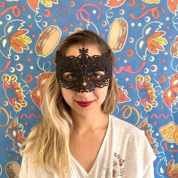 Máscara com Glitter Preta