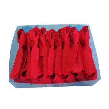Mini Gravatas para Lembrança Vermelha - 50 unidades