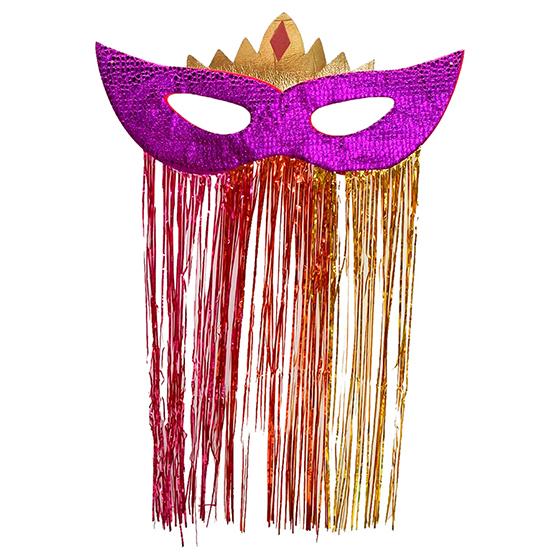 Máscara Carnaval Grande Jacaré para Decoração Roxa Ref. 212D