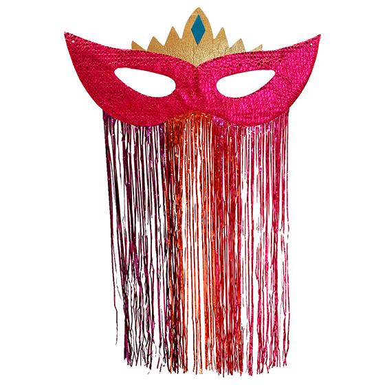 Máscara Carnaval Grande Jacaré para Decoração Pink Ref. 212C