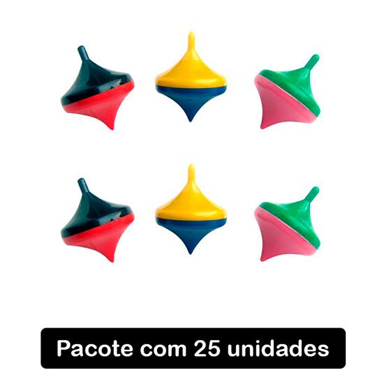 Mini Pião - 25 unidades