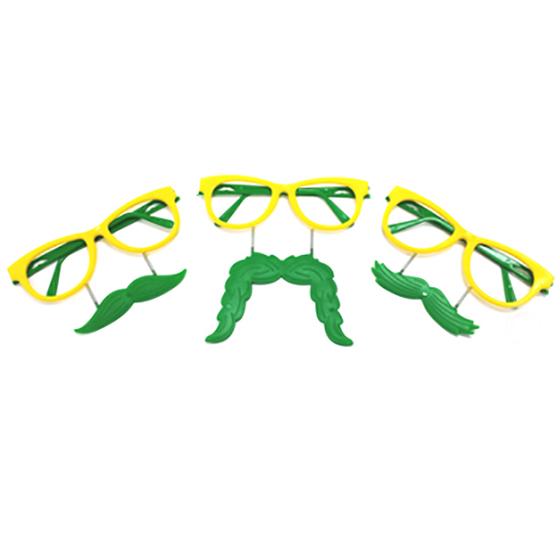 Óculos Bigode Brasil - 6 unidades