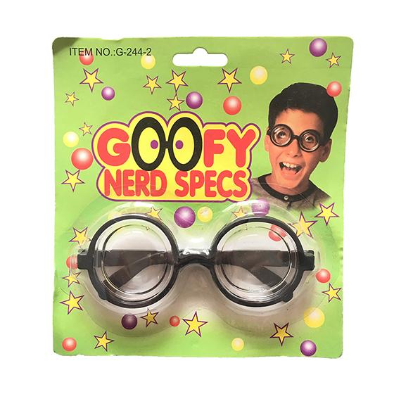 Óculos Fundo de Garrafa Fantasia Estilo Nerd Intelectual (Cegueta)